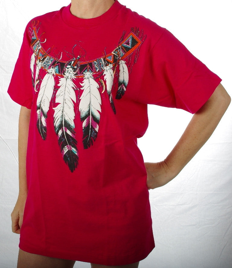 Feather Necklace #485. These are top quality tee-shirts made in United States of America.