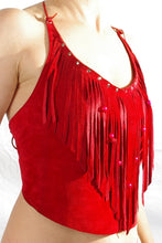 Suede Ladies halter top.