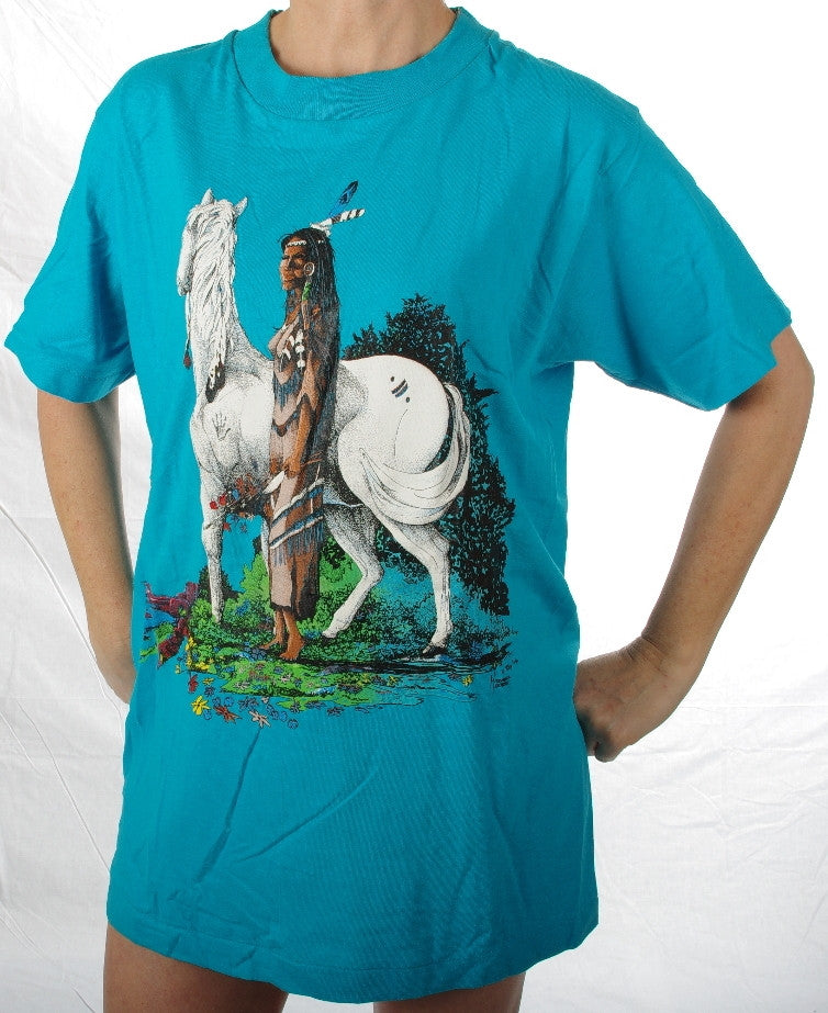 Maiden and Mare #450. These are top quality tee-shirts made in United States of America.