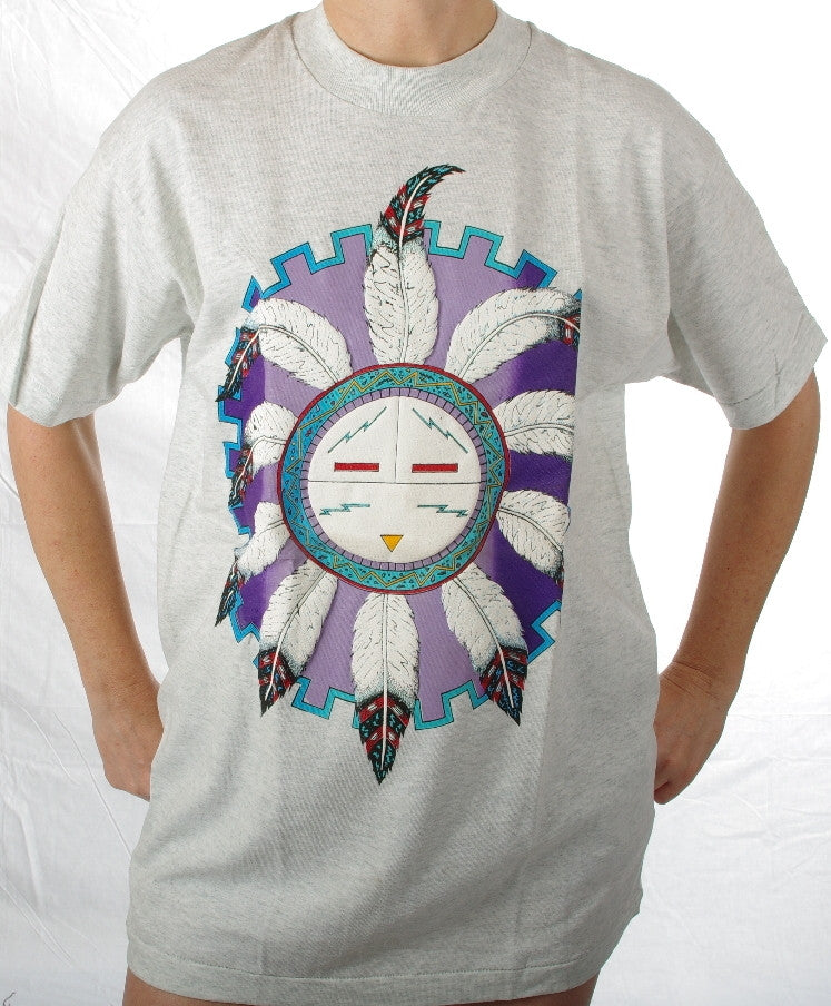 Hopi Sun Flower #203. These are top quality tee-shirts made in United States of America.