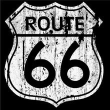 Route 66 in a soft discharge print.