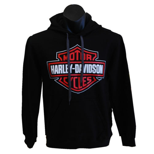 H-D Harley-Davidson Bar and Shield Kanga pouch hoodie