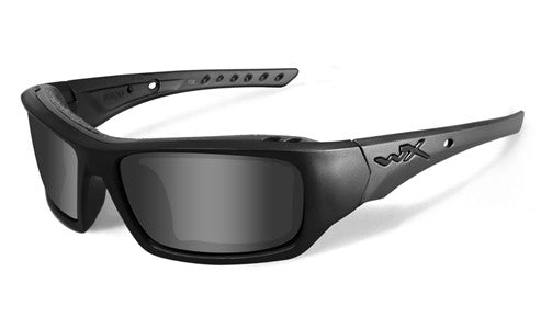 Wiley X, Arrow, Matte Black Frame with Grey Lenses.