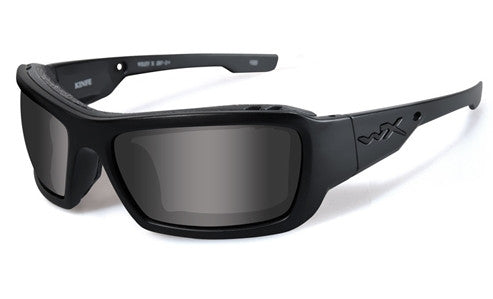 Wiley X, Knife, Matte Black Frame with Grey Lenses.