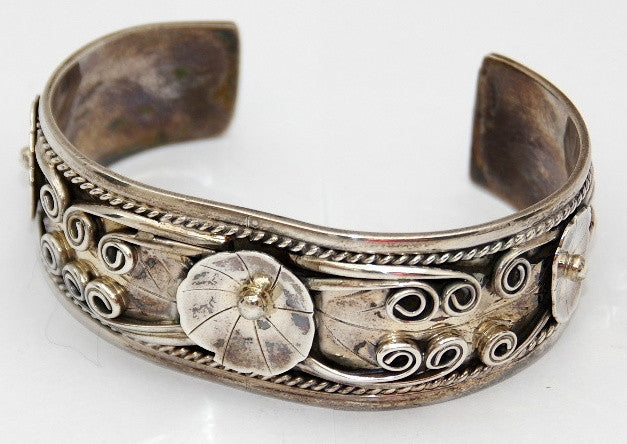 American Indian Jewellery, Mens bracelet, Navajo 925 sterling silver