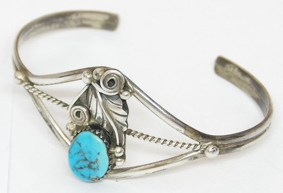 American Indian Jewellery, Ladies Bracelet, Navajo 925 sterling silver and turquoise