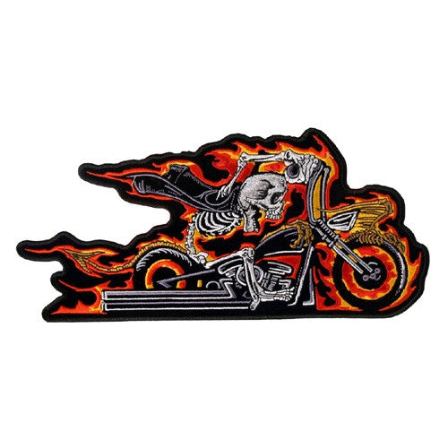Hell on wheels, 195 mm wide x 85 mm high, embroided patch