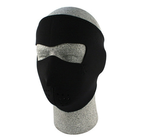 Neoprene face mask, plain black