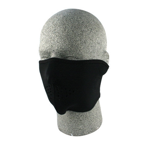 Neoprene face mask, plain black half face.