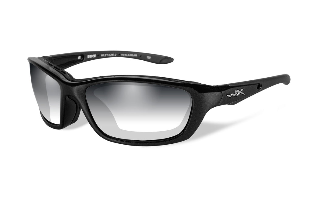 Wiley X, Brick Gloss Black Frame with Light Adjusting Lenses