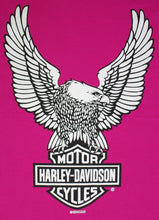 Harley-Davidson Eagle Bar and Shield, Hot Pink, Womens Tee-shirt
