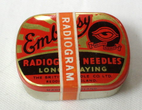 New old stock Embassy long play steel needles in original tin unopened.