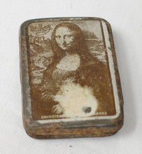 Mona Lisa used needle tin, collectable