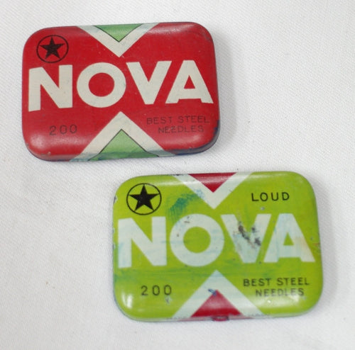 Nova needle tins, used, no needles, collectable.