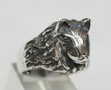 Sterling silver (925) mens Wolf ring #1010