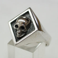 Sterling silver Mens Skull ring #1190