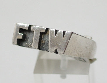 Sterling silver (925) mens, FTW, ring