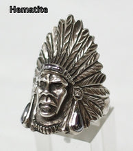 Sterling silver mens Indian Chief ring #R4