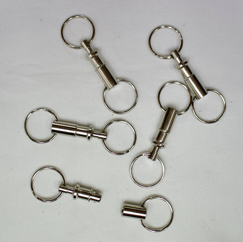 Vest spring loaded brass nickel plated easy join clips.