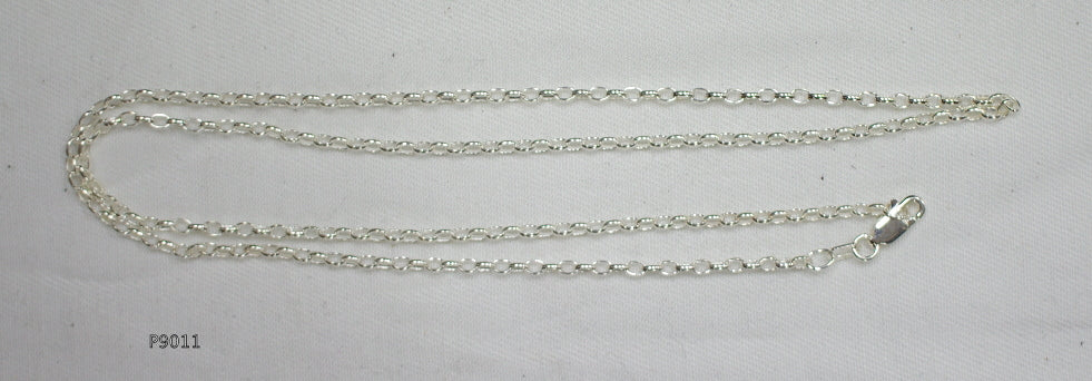 925 Sterling Silver chain for pendants with Parrot clasp, Made in Australia.
