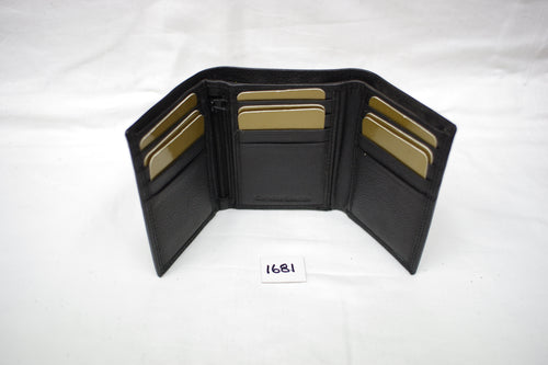Mens leather wallet RFID #1681