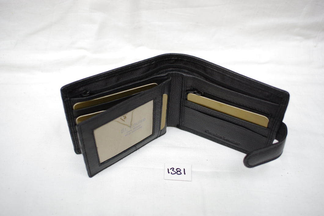 Mens leather wallet RFID #1381