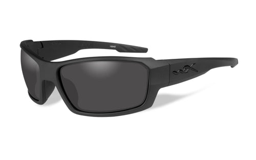 Wiley X, Rebel, Flat Black Frame with smoke Lenses.