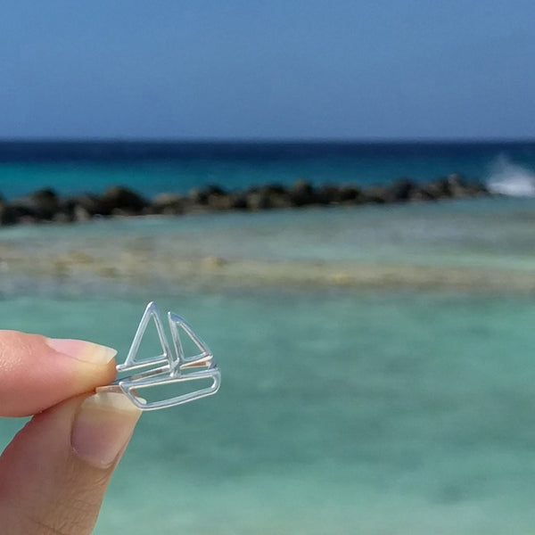 Sailboat Ring in sterling silver by Tinker Company, perfect way to remember your last beach vacation and daydream about the next one.