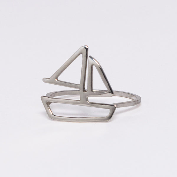 Tinker Company Sailboat Ring in sterling silver
