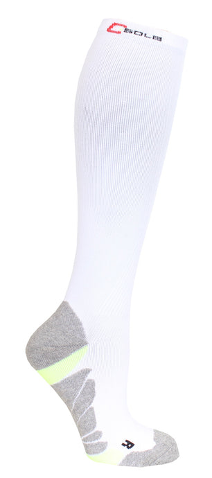 366 C-sole Knee High Compression 1-pack White/Yellow