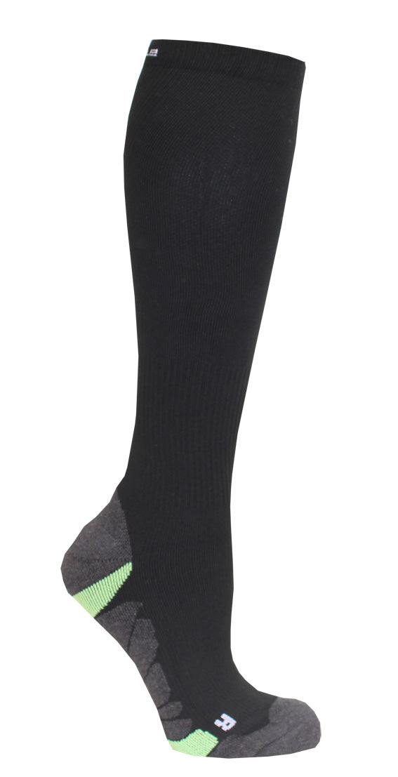 366 C-sole Knee High Compression 1-pack Green/Black