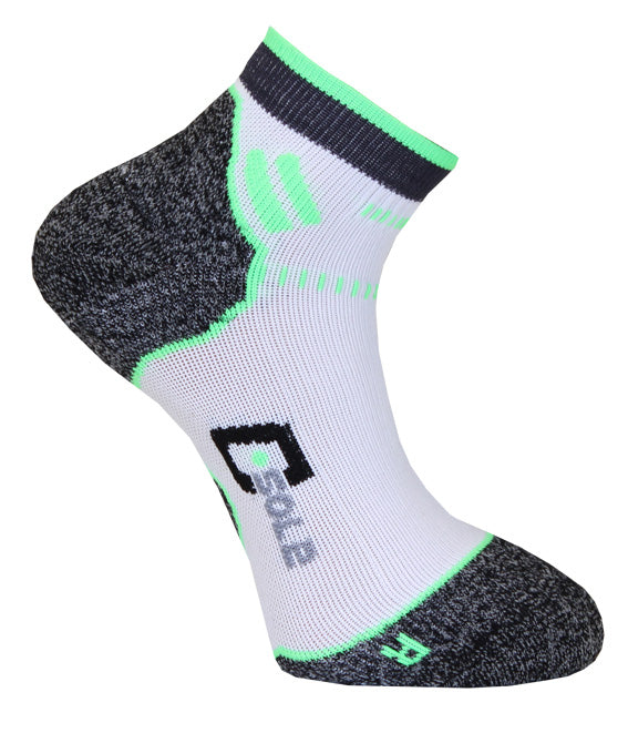 C-sole Running 1-pack White/Green/Grey