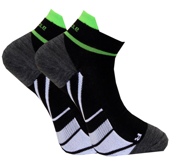 C-sole Running 2-pack HIGH Green/Black 3 str.
