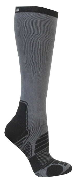 løbe sok lang med kopression og  reflex C-sole Running 1-pack grey/black