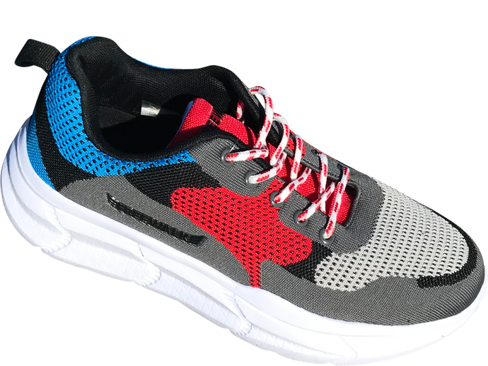 Paris chunky sneakers blue/grey/red size 36-41