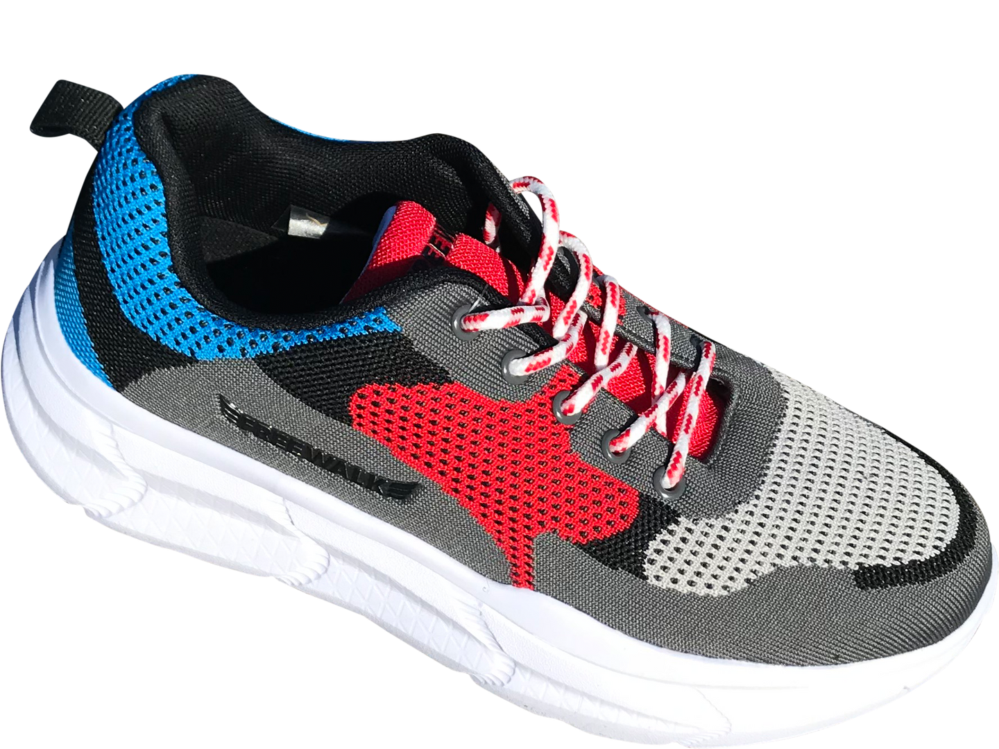 Paris chunky sneakers blue/grey/red