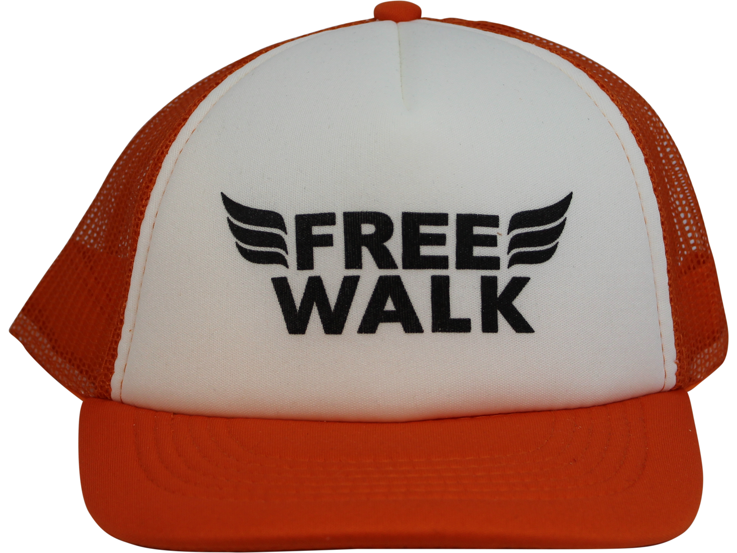 trucker cap orange adjustable snapback