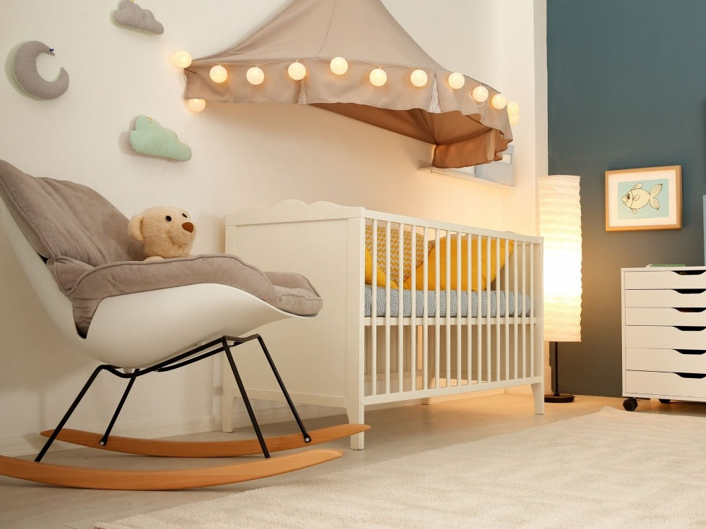 Baby Nursery with rocking chair