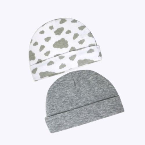 2 Pack Heather Grey Hat