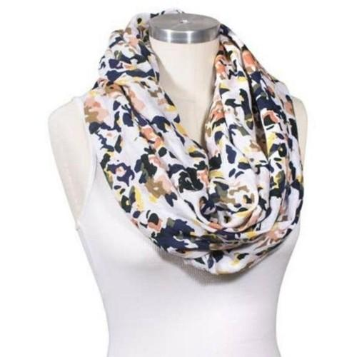 Floral Abstract Muslin Nursing Scarf