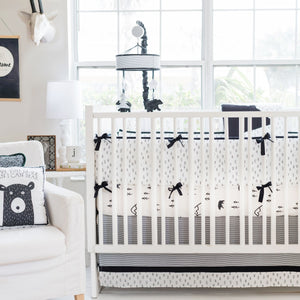 Black Bear Crib Sheet Set
