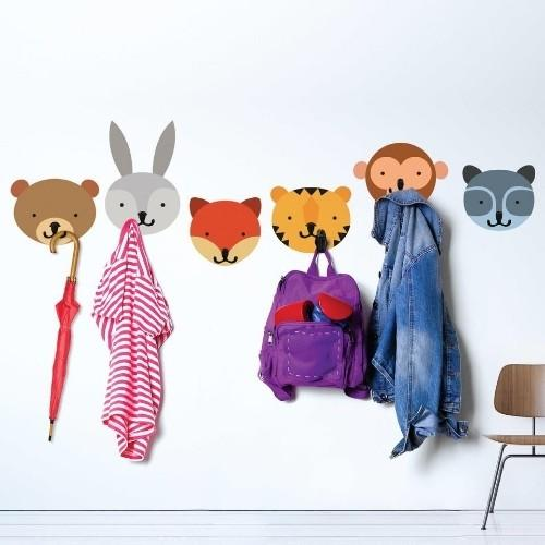 Animals Decals Coat Check Hooks