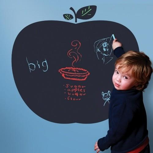 Apple Peel-and-Stick Chalkboard