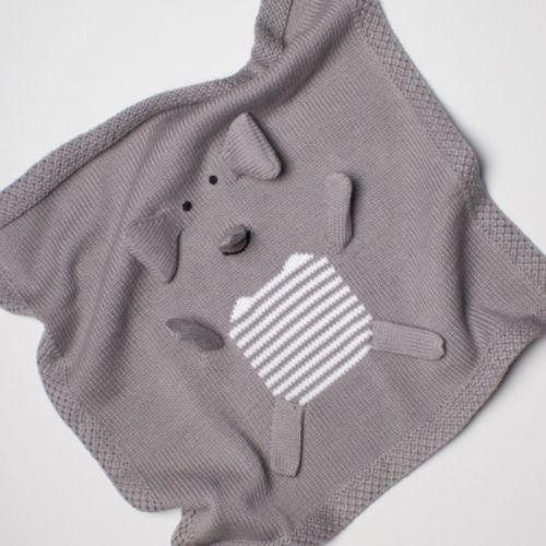Elephant Baby Security Blanket
