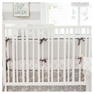Gray Striped Crib Bumper