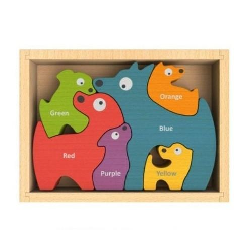 Dogs Bilingual Color Puzzle