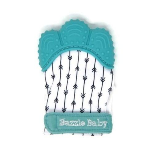 Teething Chew Mitt Blue Arrows