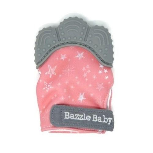 Teething Chew Mitt Pink Stars
