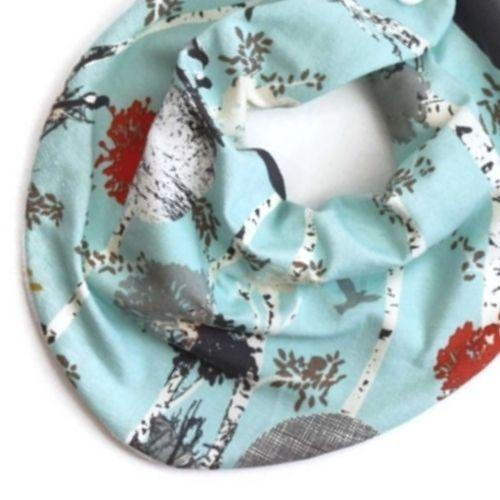 Blue Birch Tree Bandana Bib