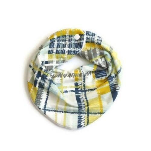 Plaid Bandana Baby Bib